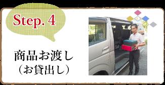 step4 商品お渡し (お貸出し)