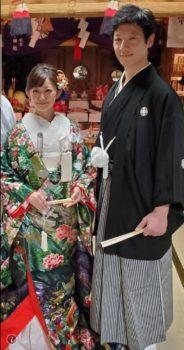 婚礼 色打掛 紋付袴